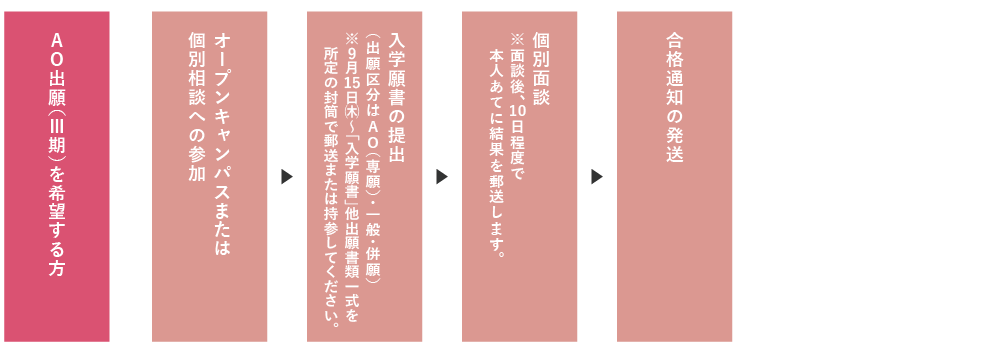 AO入試(II期)実施の手順